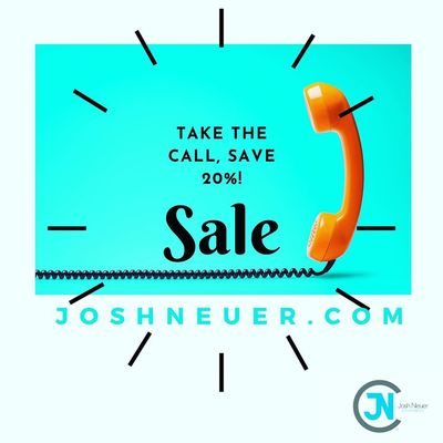 Take the Call, Save 20%